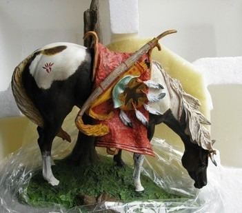 Night Shadow - Sioux Pony Ceramic Sculpture  - Danbury Mint