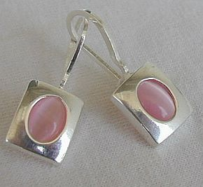 Small pink earrings