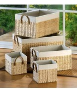 5 Large Nesting Baskets - £43.78 GBP