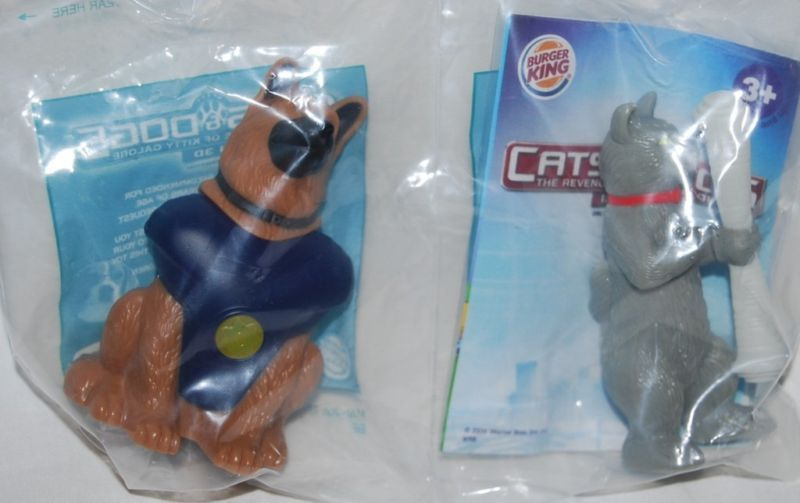 Burger King 2010 Cats & Dogs Diggs & Catherine Toys