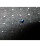 NOSE STUD BLUE SAPPHIRE STAR BODY PIERCING JEWE... - $6.99