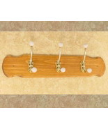 Country Coat Rack - w/ Brass Hooks  - $19.95