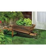 Flower Pot Cart Wheelbarrow Plant Stand - $30.00