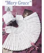 Lacy Mary Grace Baby Dress & Bonnet Crochet Pat... - £13.04 GBP
