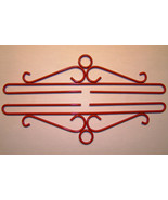 Red Wrought Iron Bellpull pair 18cm (7 1/8