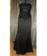 Elegant black formal gown dress mother bride we... - $35.00