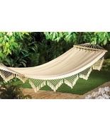 Hammock Bed Yard Garden Lounger White - $41.00