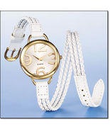 Avon White Braided Wrap Watch - $14.99