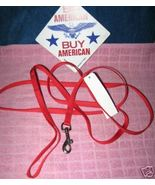 * Leash 6' feet Red Lot 2 small dog lead 3/8
