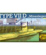 REVELL 1/144 U-BOAT TYPE VIID - GERMAN MINELAYER SUB - $23.00