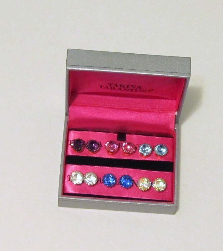 New Tarina Tarantino Crystal Stud Earrings Gift Set