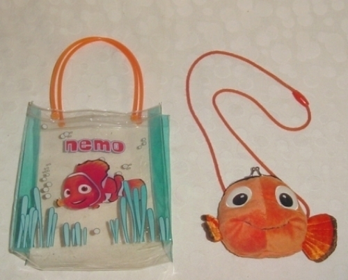 Disney Pixar Finding Nemo Plush Purse And Vinyl Tote
