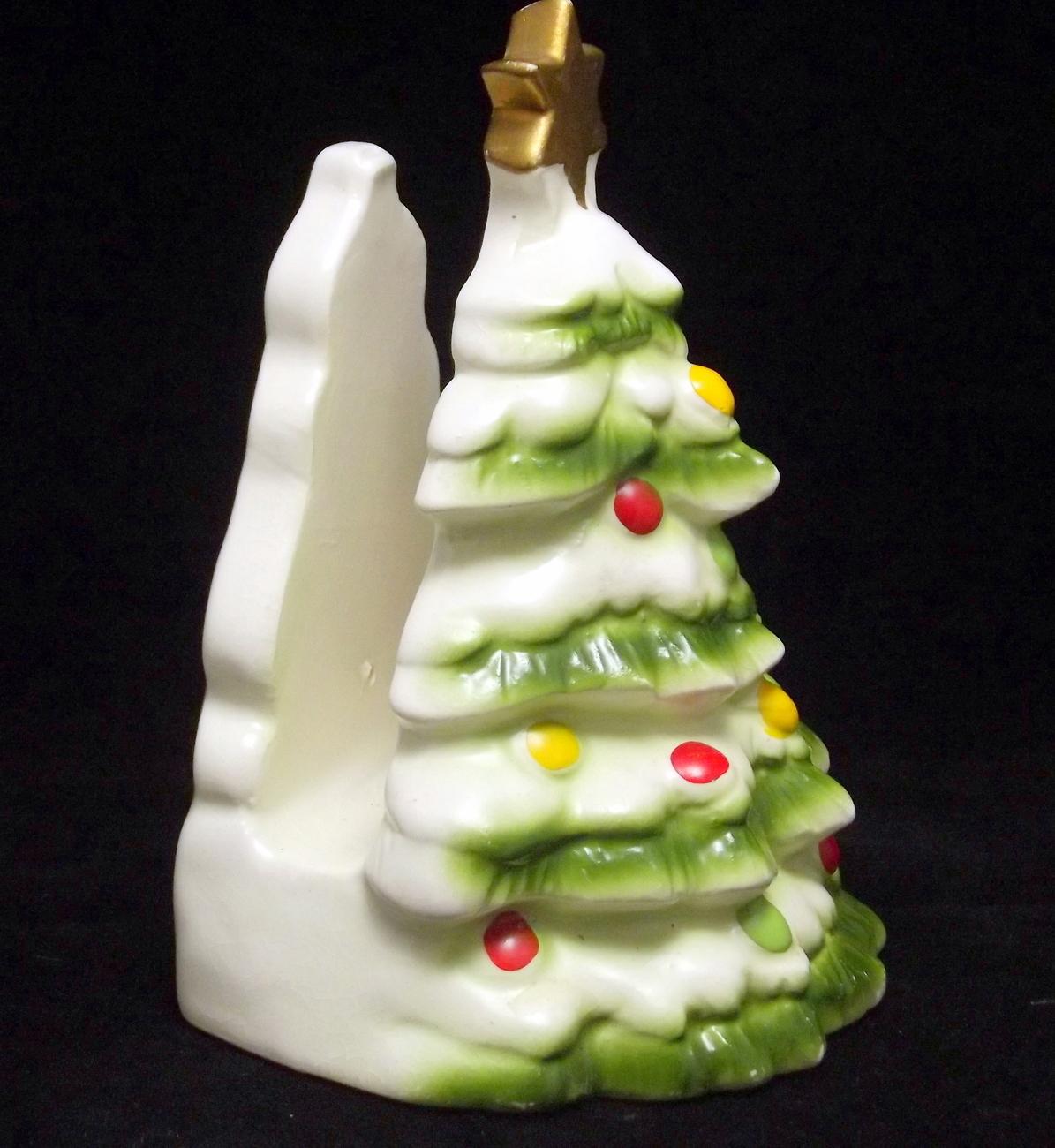 Lefton christmas tree napkin holder vintage other