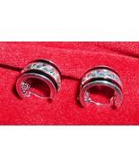 925 Sterling Silver Black Enamel Earrings Silve... - $9.95