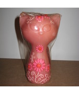 Hallmark 1969 Mod Floral Cat Candle NRFP