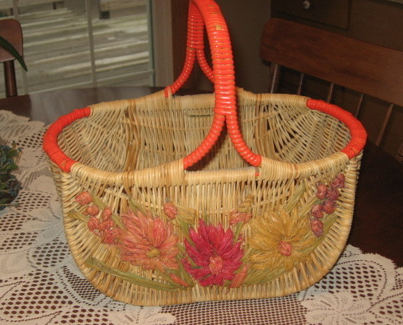 Antique English Market Basket