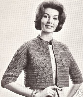 Bolero Crochet Jacket Flower Loom Pattern by jewlzs on Etsy