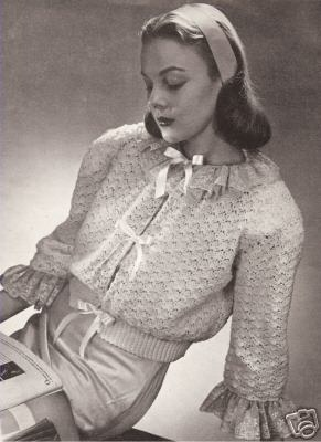 bed jacket vintage crochet patterns - Vintage crochet Patterns