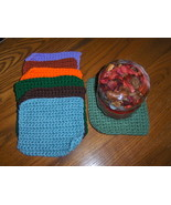 Crochet Candle Blanket or Hot Plate Pad Handmade  - $3.99