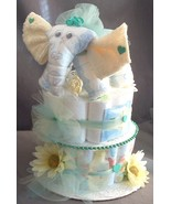 ELEPHANT Baby Shower Gift Diaper Cake Centerpiece - $48.00