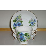 Queen Anne English Bone China Cup & Saucer - Bl... - $20.00