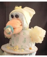 Yellow DUCK Baby Shower Diaper Cake TOPPER Deco... - $28.00