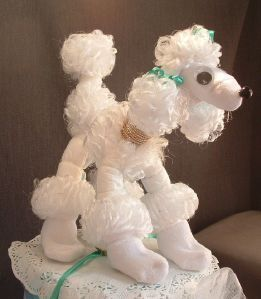 POODLE DOG Baby Shower Diaper Cake TOPPER Decorations