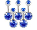 Buy Body Jewelry - Lot 14g Belly Button Navel Rings Bars Body Jewelry BMSV