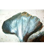Vintage  ICY TEAL Ginkgo Foil Millinery Flower ... - $9.99