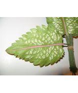 Green Wht Pink Striped Vintage Millinery Flower... - $9.64