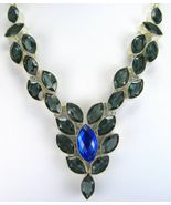 Faceted Marquis Blue Fire Topaz and Blue - Grey... - $271.68