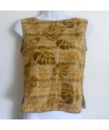 Tommy Bahama Brown 100% Silk Lined Sleevless Bl... - $28.50