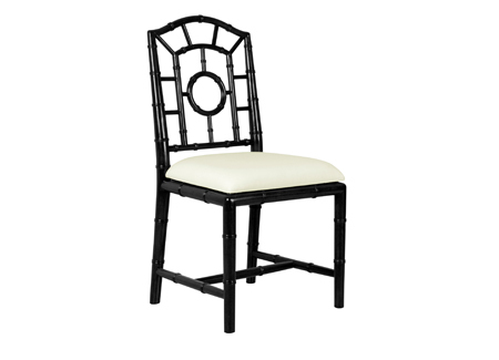 BLACK LACQUER Cane or Bamboo Chair, SOLID BIRCH, Set of 6, HOLLYWOOD REGENCY!