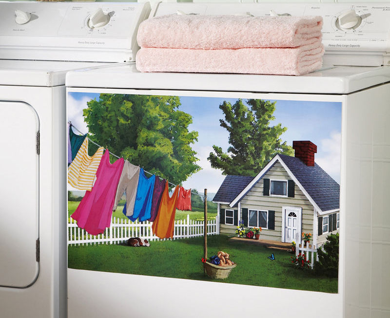 Image 0 of Magnetic Washer Laundry Room Decor