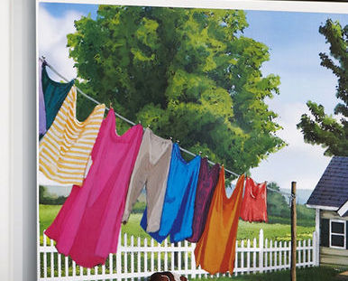 Image 1 of Magnetic Washer Laundry Room Decor