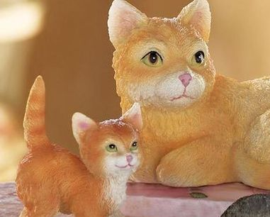 Image 1 of Cat Family Figurines