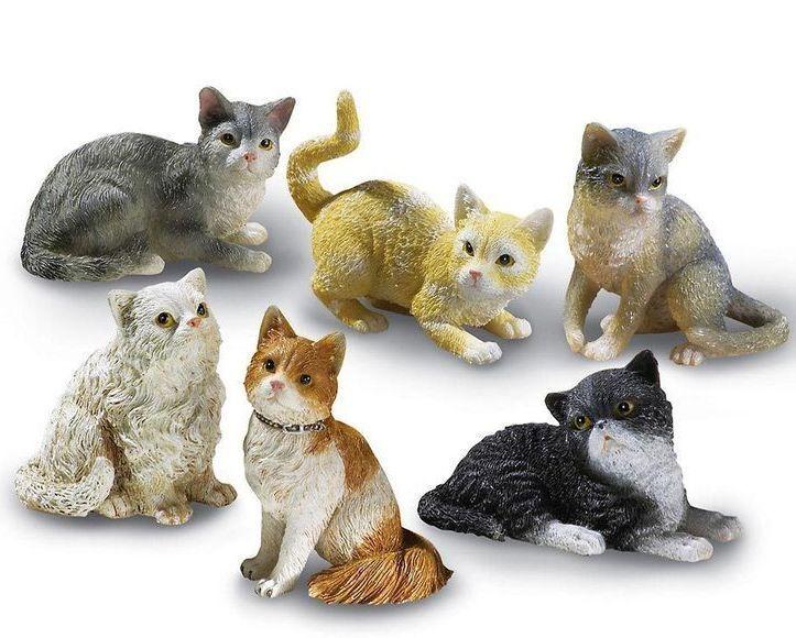 Set Of 6 Cat Shelf Sitters