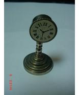 Miniature Metal Doll House Clock Pedestal Heavy... - $3.99