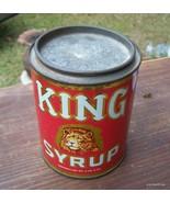 Vintage King Syrup Can 2 lbs 8 oz.Mangels Herol... - $35.00