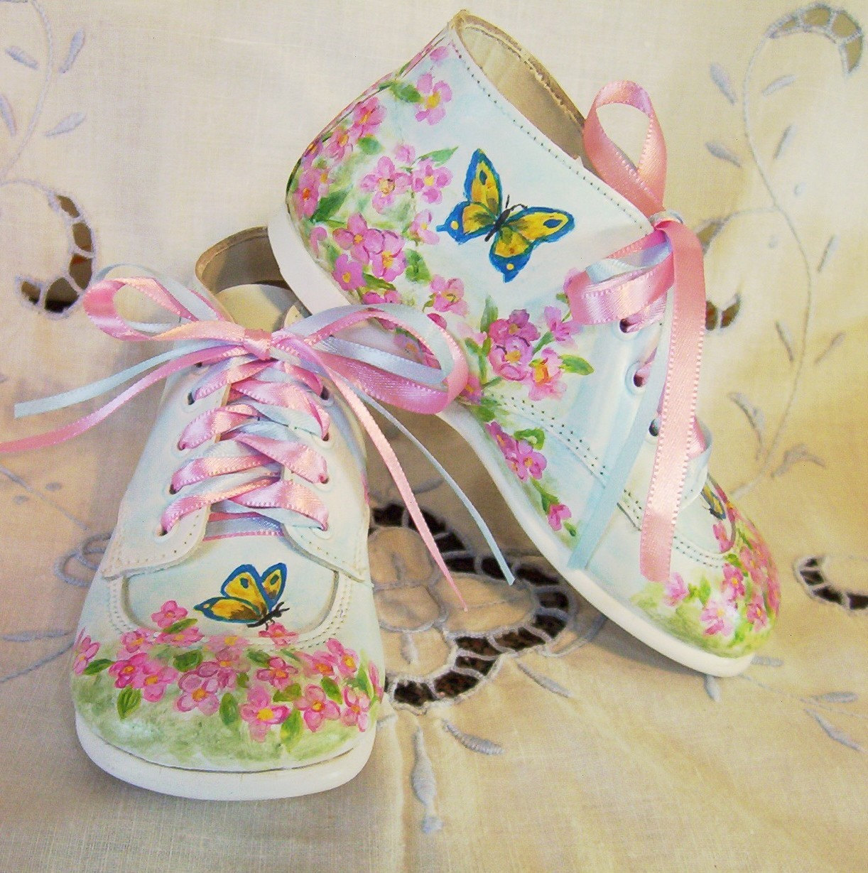 Toddler Shoes Leather Girl Butterfly