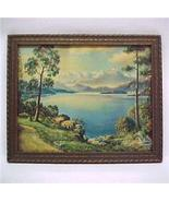 Mountain Daybreak Vintage 1940s Art Litho Print... - $14.95