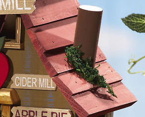 Image 3 of  Wooden Hanging Apple Cider Mill Birdhouse