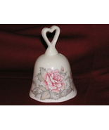 PORCELAIN BELL WITH ROSE DESIGN BY RUSS - $19.00