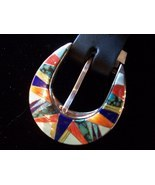 Sterling Silver Inlay Ranger Buckle Set, Native... - $999.00