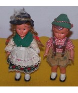 2 Austrian Bavarian Wind Up Dancing Dolls  - $50.00
