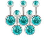 Buy Body Jewelry - Lot 14g Belly Button Navel Rings Bars Body Jewelry BMSX