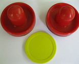 Buy Air Hockey - 2 NEW RED Air Hockey Handles 3 3/4 & Yellow Puck 3 1/4