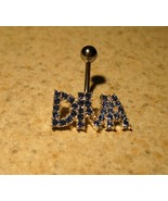 BELLY NAVEL RING BLUE SAPPHIRE CRYSTAL