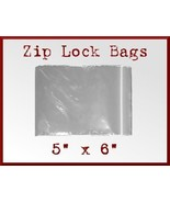 200 Zip Lock Top Recloseable Poly Seal Bags 5 x... - $17.48