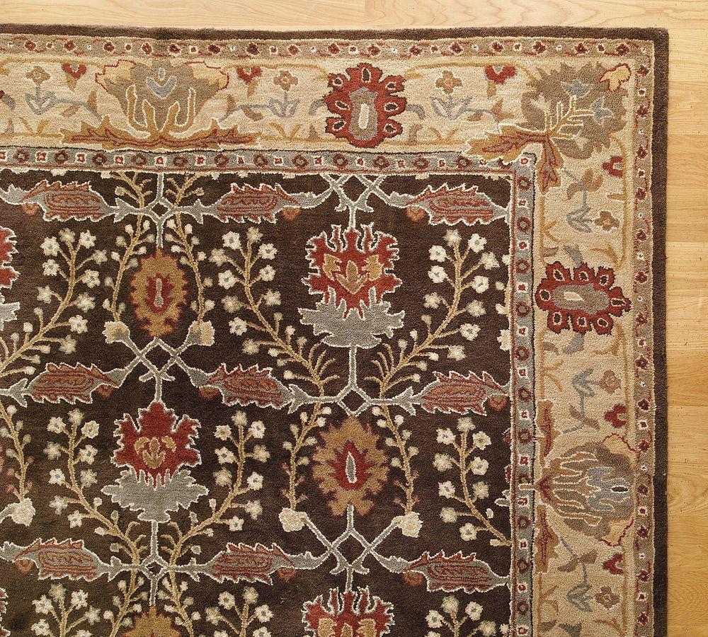 New pottery barn handmade persian brandon area rug 9x12 rugs